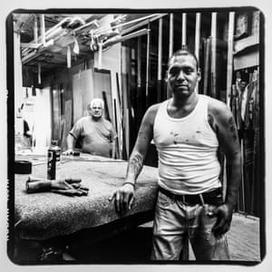Kevin Mendoza (front) and Pepe (no last name) from Fordham Glass & Windows located on Jerome Avenue and 183rd