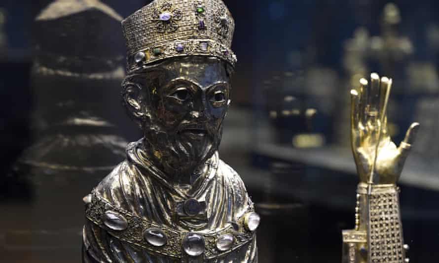 A bust reliquary of Saint Blaise.