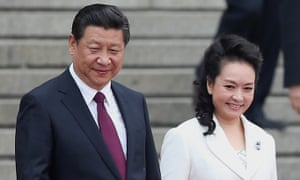 Chinese President Xi Jinping and his wife Peng liyuan in Beijing, China