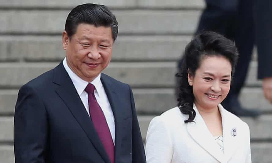 Chinese President Xi Jinping and his wife Peng liyuan in Beijing, China