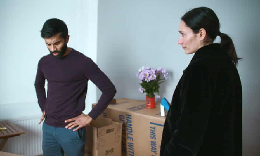 Nikesh Patel and Sian Clifford in Good Grief.