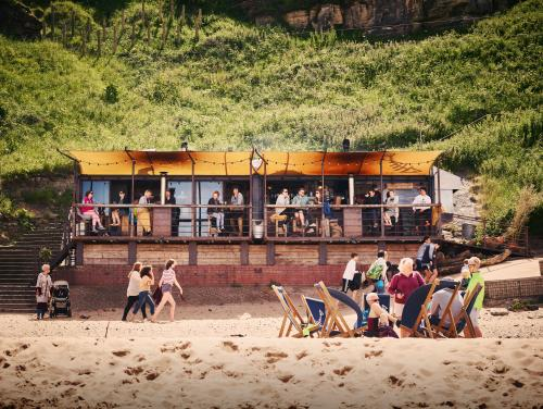 On the beach: Riley's Fish Shack, Tyne & Wear.