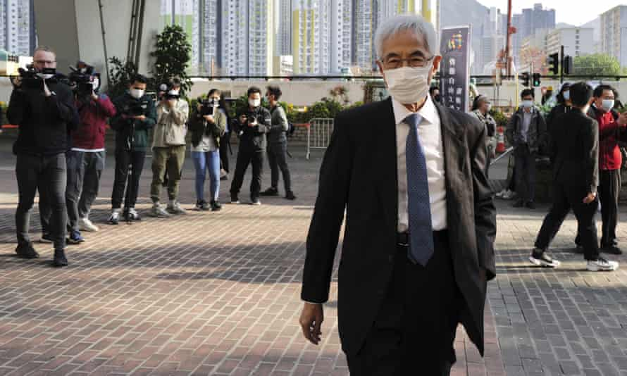 Martin Lee arrives at a court in Hong Kong