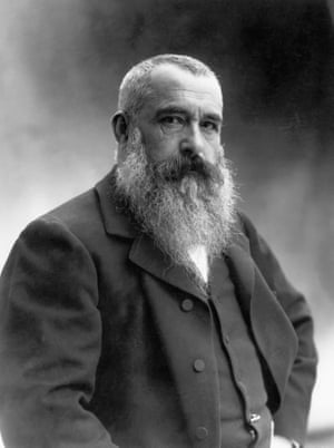 Nadar's portrait of Claude Monet.