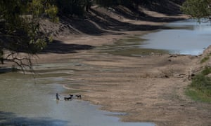 The Darling River at Louth in New South Wales has ceased to flow