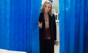 Killer cured: Gillian Anderson checks on the patient in the season three opener of The Fall.