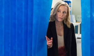 Intense, meticulous, controlling, just like her quarry ... Gillian Anderson as DSI Stella Gibson in The Fall.