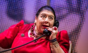 Miriam Margolyes performing in a play in 2017