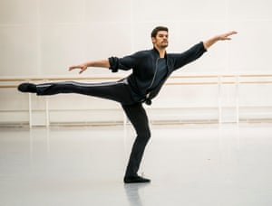 Soares during rehearsals. His final performance for the Royal Ballet will be as Onegin on 29 February
