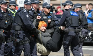 A woman is arrested
