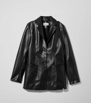 "It's time to reconsider that 90s throwback - the black leather blazer. Dig out any old ones you might have and Google ""Gwyneth Paltrow 90s"" for styling hacks.  Faux leather blazer, £60, weekday.com"