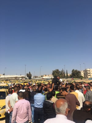 Taxi drivers protesting in Amman
