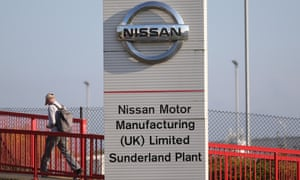 A worker at the Nissan car plant in Sunderland