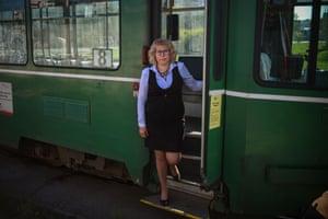 Sofia, Bulgaria: Stoyanka Dimitrova, tram driver