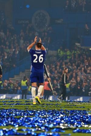John Terry applauds the Stamford Bridge crowd