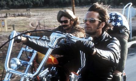 Dennis Hopper and Peter Fonda in Easy Rider.