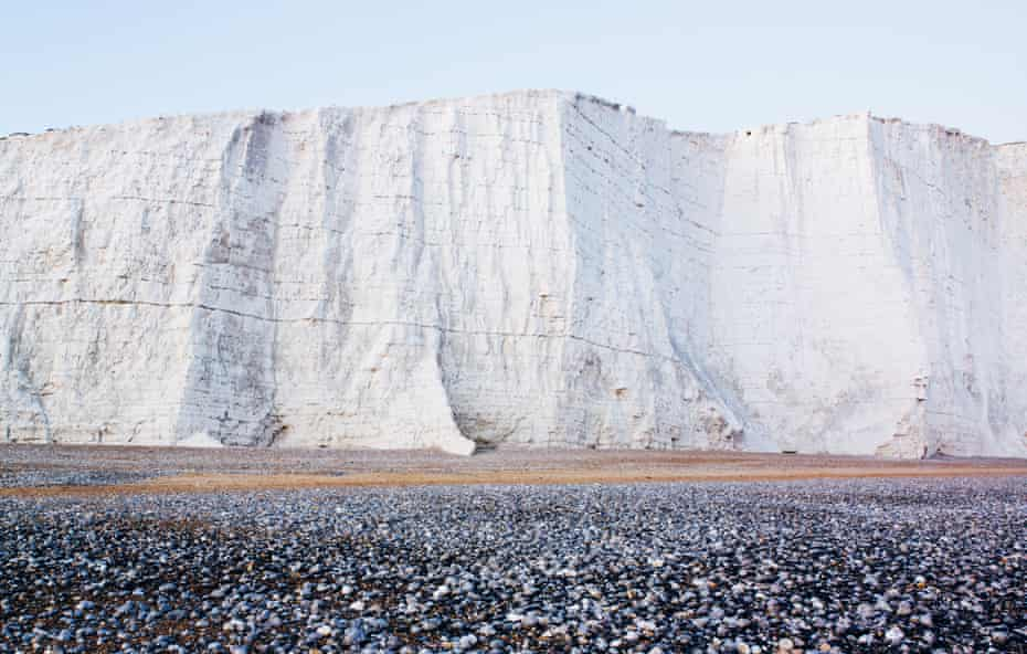 Chalks cliffs at Beachy Head in East Sussex.