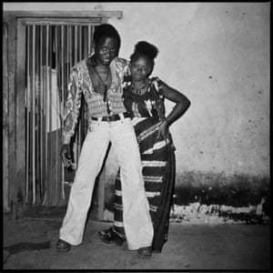 Posons maintenant!, 1976 This young couple poses in the courtyard of one of a private house where partying and dancing was in full swing.