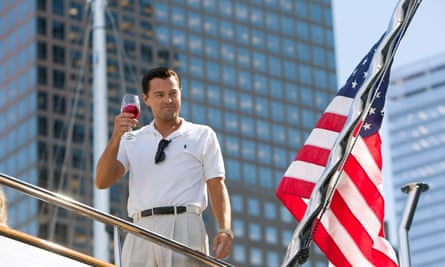 Leonardo DiCaprio in The Wolf of Wall Street.