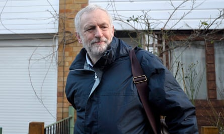 Labour leader Jeremy Corbyn leaves his London home the morning after he reshuffled his top team.