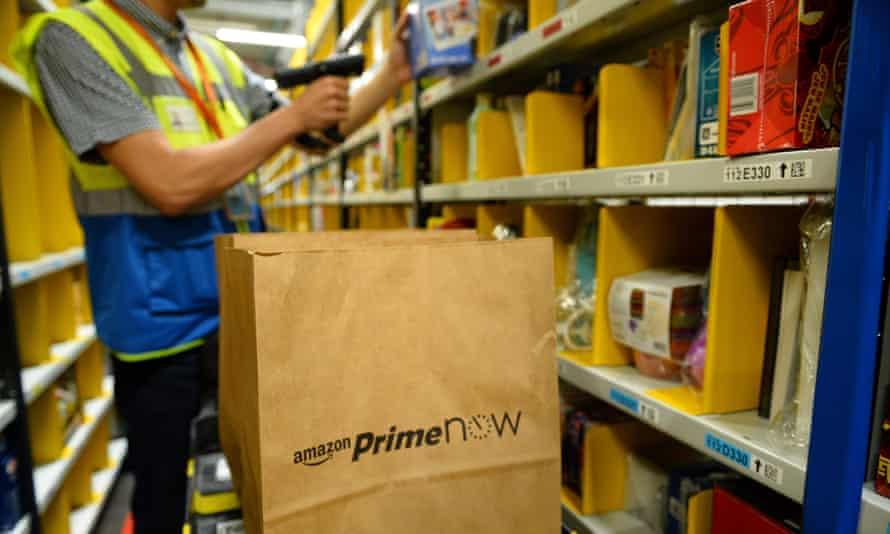 An Amazon warehouse in Paris