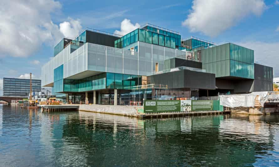 Blox, a building of multiple glass boxes on the waterfront
