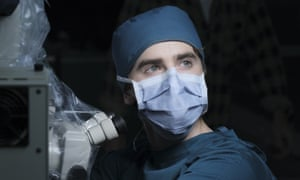 Freddie Highmore as Dr Shaun Murphy on ABC's The Good Doctor