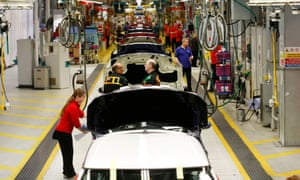 Workers on BMW's Mini production line at their factory in Cowley, Oxford, in 2007