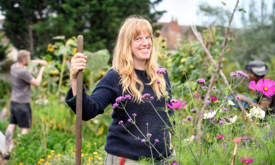 Lucy Mitchell, a community project worker with the Golden Hill Community Garden, in Horfield, Bristol.