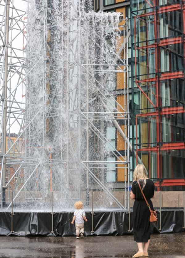 Olafur Eliasson's Waterfall at the Tate Modern.