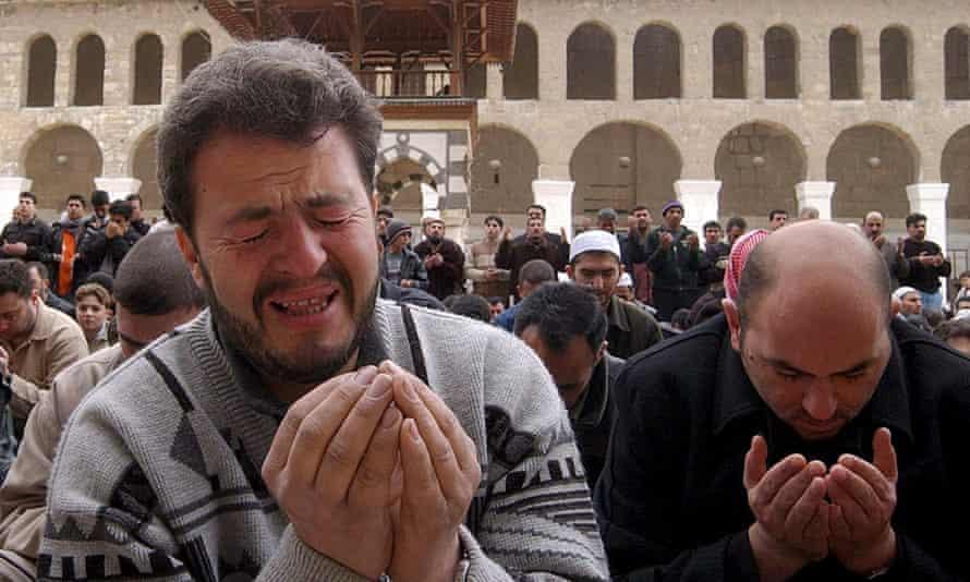 Syrians pray for rain in Damascus