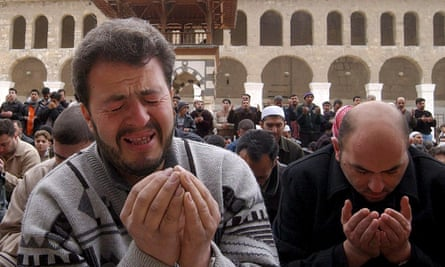 Syrians pray for rain in Damascus