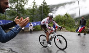 Ben O'Connor (AG2R Citroën) on the way to an impressive stage victory at Tignes.