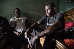 Ousmane and Abdou in their home in Soukouta