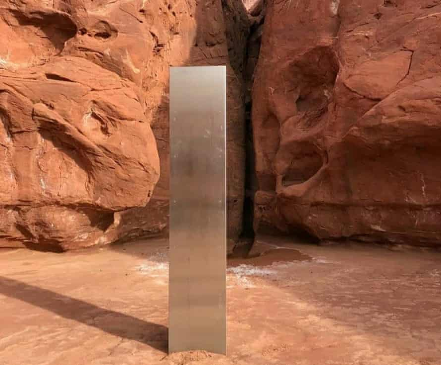 The metal monolith found in a remote part of Utah.