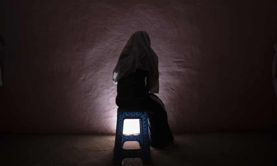 A Tigrayan refugee who was raped as she fled the conflict in Ethiopia.