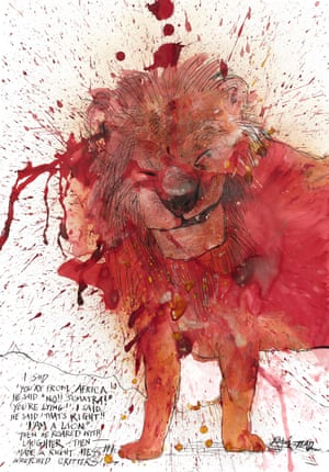 Lion by Ralph Steadman
