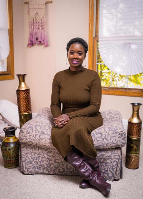 Christin Farmer at the Birthing Beautiful Communities headquarters in Cleveland, Ohio.