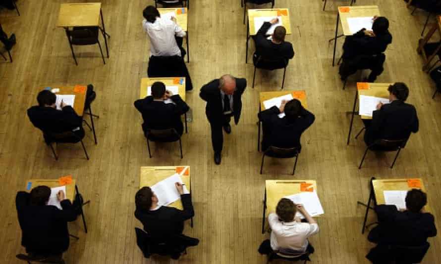 Pupils sitting an exam