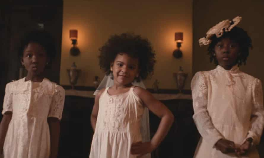 Beyoncé's daughter, Blue Ivy, strikes a pose in the video for Formation.