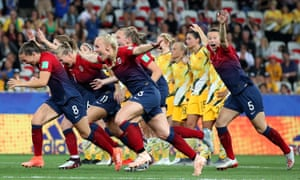 Norway players celebrate