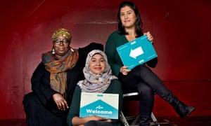 Wasi Daniju, Naima Khan and Halima Gosai of Raise Your Gaze.