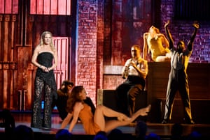 Kelli OHara and the cast of Kiss Me, Kate onstage