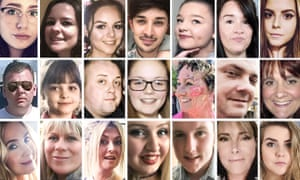 Twenty-one of the 22 people killed in the Manchester Arena attack.
