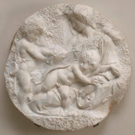 Michelangelo's marble sculpture Taddei Tondo.