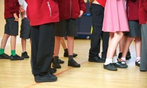 Primary children at their school