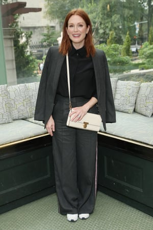 Julianne Moore at the Tory Burch show
