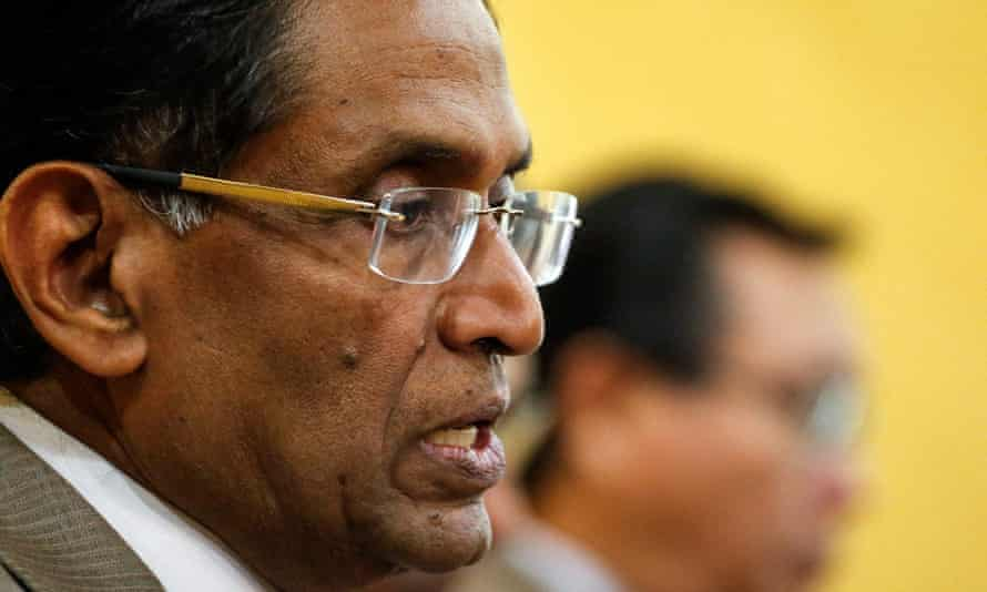 Malaysia's health minister, Dr Subramaniam