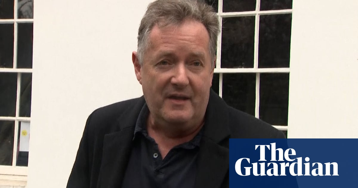 Piers Morgan speaks to journalists about Meghan row and GMB exit – video