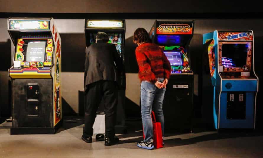 Arcade games at a Tokyo exhibition